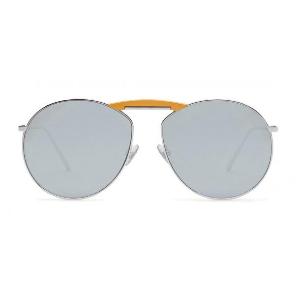 Fendi - Gentle Monster - Round Sunglasses - Palladium - Sunglasses - Fendi Eyewear