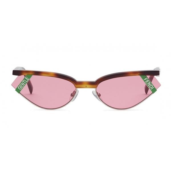 Fendi - Gentle Monster No. 01 - Occhiali da Sole Cat Eye - Havana Rosa - Occhiali da Sole - Fendi Eyewear
