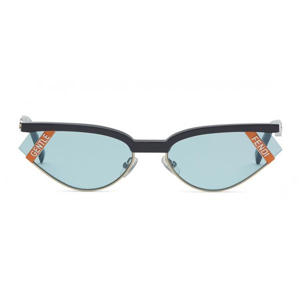 Fendi - Gentle Monster No. 01 - Occhiali da Sole Cat Eye - Grigio Azzurro - Occhiali da Sole - Fendi Eyewear