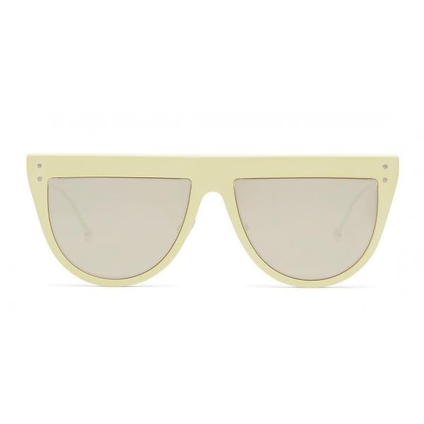Fendi - DeFender - Occhiali da Sole Aviator - Gialli - Occhiali da Sole - Fendi Eyewear