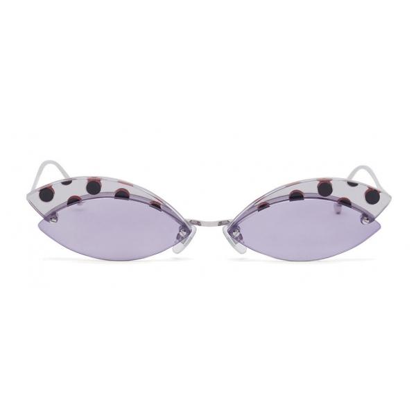 Fendi - DeFender - Aviator Sunglasses - Silver - Pois - Sunglasses - Fendi Eyewear