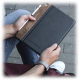 Woodcessories - Walnut and Leather Hard Cover - iPad Air 2 - Flip Case - Eco Flip Leather and Wood