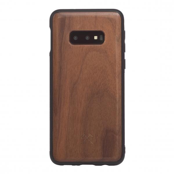 Woodcessories - Eco Bumper - Walnut Cover - Black - Samsung S10e - Wooden Cover - Eco Case - Bumper Collection