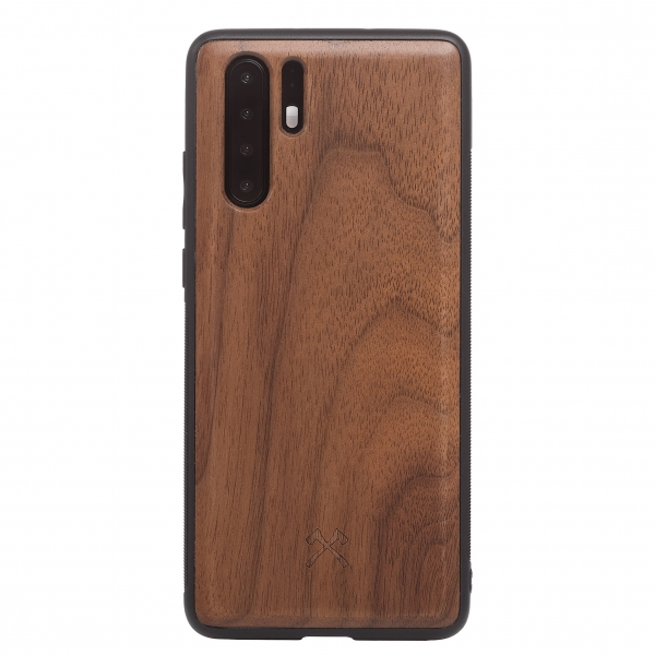 Woodcessories - Eco Bumper - Walnut Cover - Black - Huawei P30 Pro - Wooden Cover - Eco Case - Bumper Collection