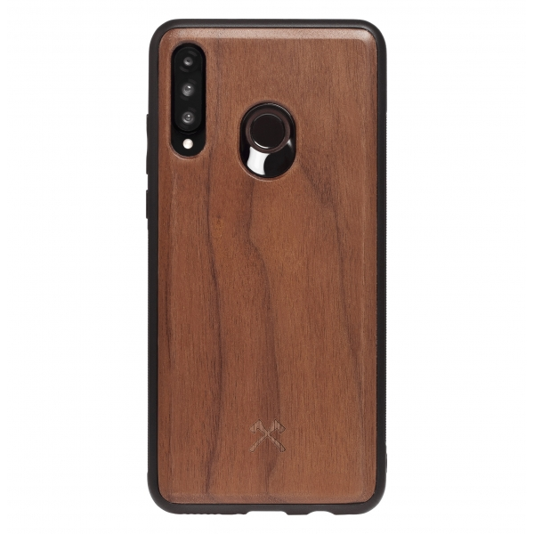 Woodcessories - Eco Bumper - Walnut Cover - Black - Huawei P30 Lite - Wooden Cover - Eco Case - Bumper Collection