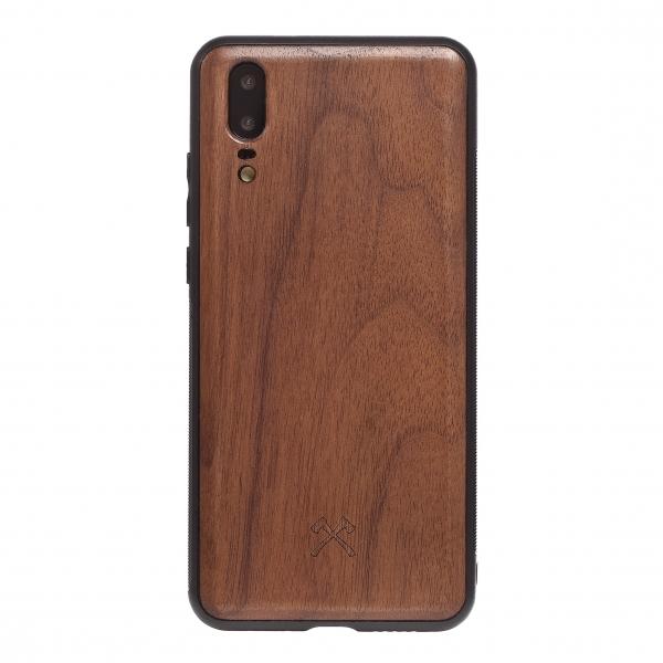 Woodcessories - Eco Bump - Cover in Legno di Noce - Nero - Huawei P20 - Cover in Legno - Eco Case - Collezione Bumper
