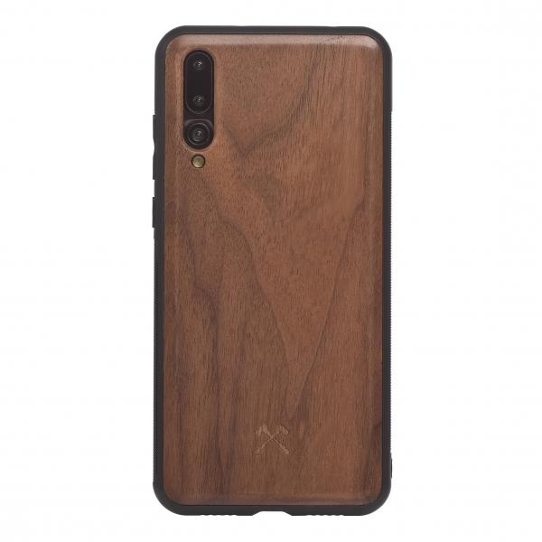 Woodcessories - Eco Bump - Cover in Legno di Noce - Nero - Huawei P20 Pro - Cover in Legno - Eco Case - Collezione Bumper