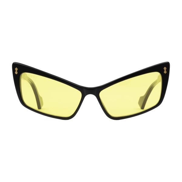 Gucci - Occhiali da Sole Rettangolari in Acetato - Nero Giallo - Gucci Eyewear