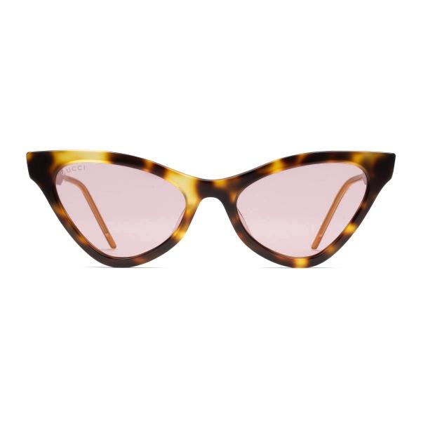 Gucci - Occhiali da Sole Cat Eye in Acetato - Tartaruga - Gucci Eyewear
