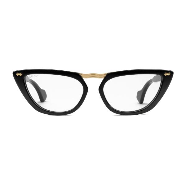Gucci - Occhiali da Sole Cat Eye in Acetato e Ponte in Metallo - Nero - Gucci Eyewear