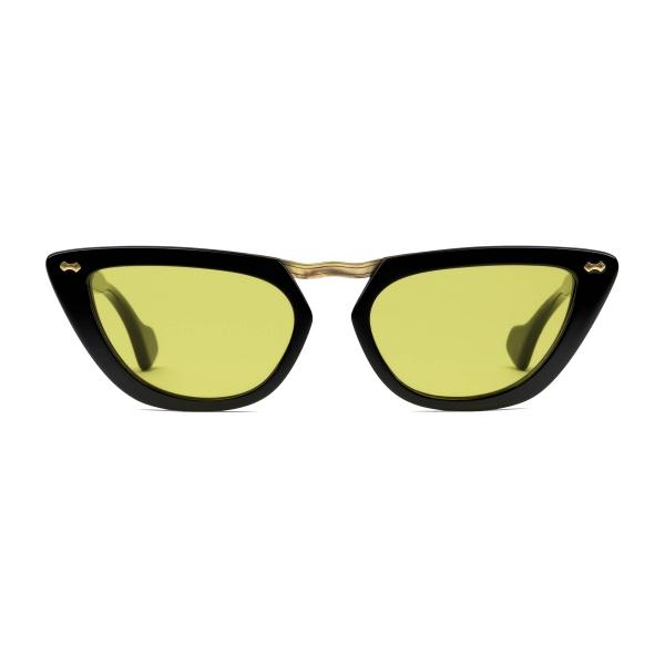 Gucci - Occhiali da Sole Cat Eye in Acetato e Ponte in Metallo - Nero Giallo - Gucci Eyewear