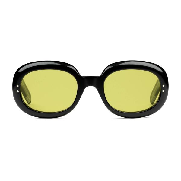 Gucci - Occhiali da Sole Ovali in Acetato - Nero Giallo - Gucci Eyewear
