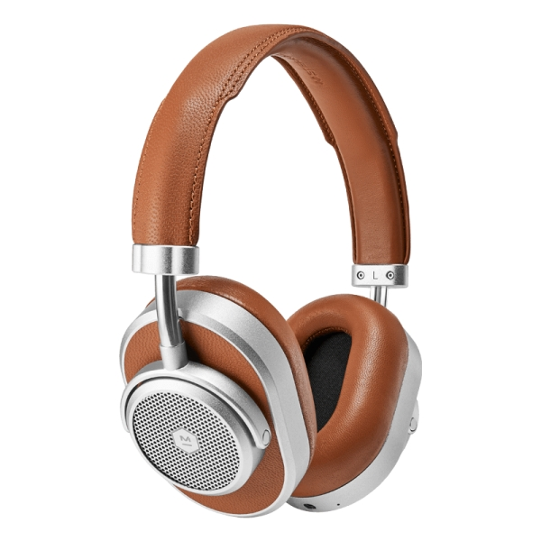 Master & Dynamic - MW65 - Silver Metal / Brown Leather - Active Noise-Cancelling Wireless Headphones - Premium Quality