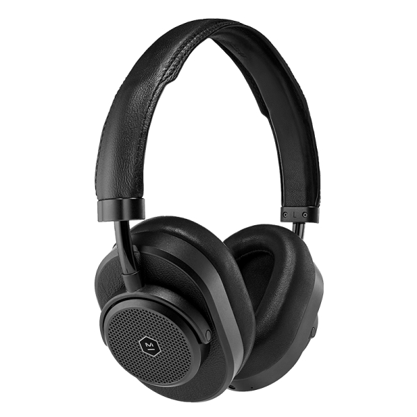Master & Dynamic - MW65 - Metallo Nero / Pelle Nera - Cuffie Wireless Active Noise-Cancelling - Qualità Premium
