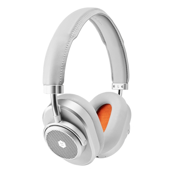 Master & Dynamic - MW65 - Metallo Argentato / Pelle Grigia - Cuffie Wireless Active Noise-Cancelling - Qualità Premium