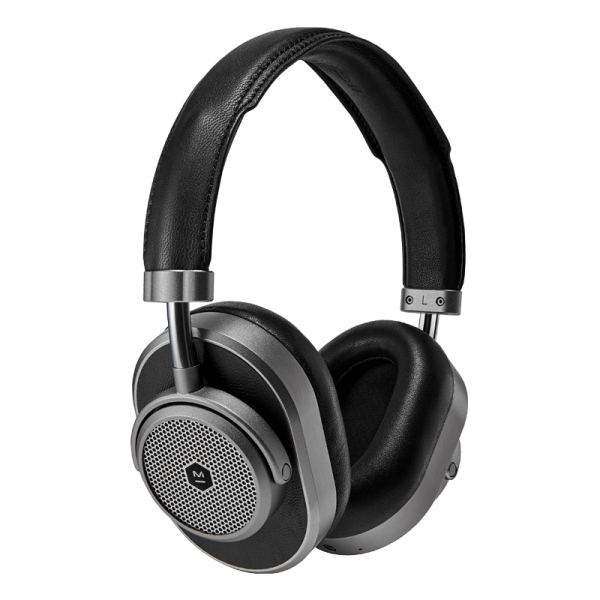 Master & Dynamic - MW65 - Metallo Fucile / Pelle Nera - Cuffie Wireless Active Noise-Cancelling - Qualità Premium