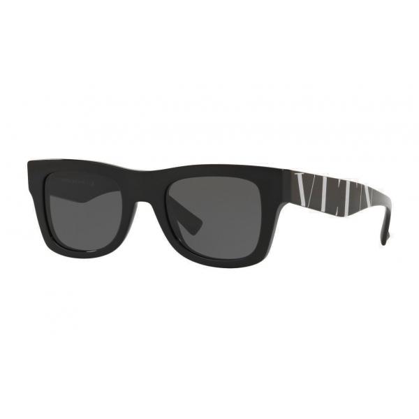 Valentino - Occhiale da Sole Squadrato in Acetato VLTN - Nero - Valentino Eyewear