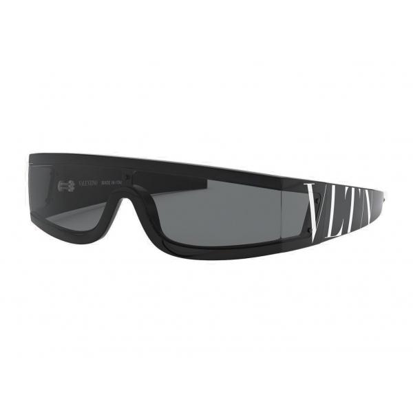 Valentino - Occhiale da Sole Mascherina Nylon VLTN - Nero - Valentino Eyewear