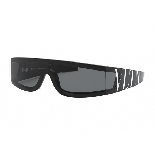 Valentino - VLTN Wrap Shield Acetate Sunglasses - Black - Valentino Eyewear