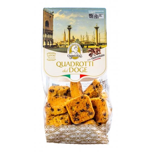 Biscotteria Veneziana - Carmelina Palmisano - Quadrotti del Doge - Cioccolato - Biscotti Artigianali Veneziani