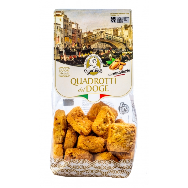 Biscotteria Veneziana - Carmelina Palmisano - Quadrotti del Doge - Almonds - Venetian Artisan Biscuits