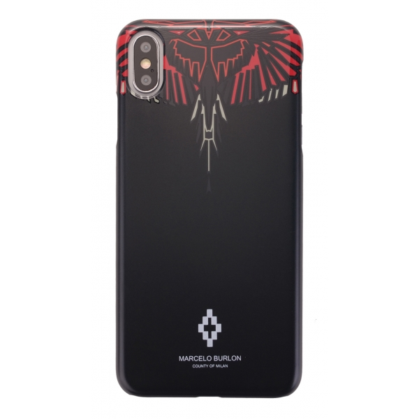 Marcelo Burlon - Cover Geo Red Wings - iPhone X / XS - Apple - County of Milan - Cover Stampata