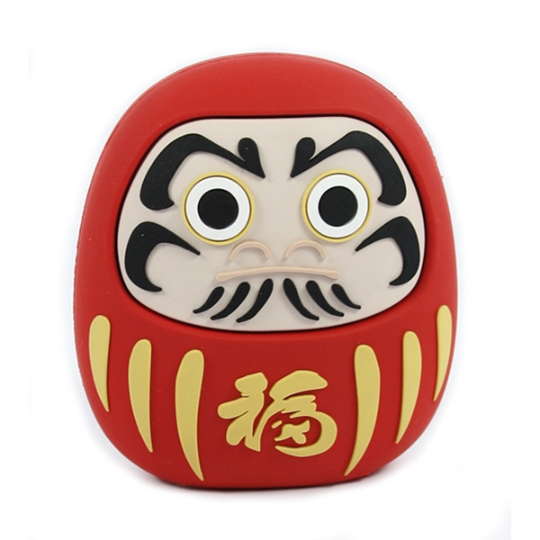 Moji Power - Daruma - High Capacity Portable Power Bank Emoji Icon USB Charger - Portable Batteries - 2600 mAh