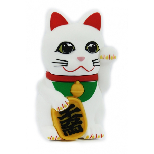 Moji Power - Fortune Cat - High Capacity Portable Power Bank Emoji Icon USB Charger - Portable Batteries - 2600 mAh