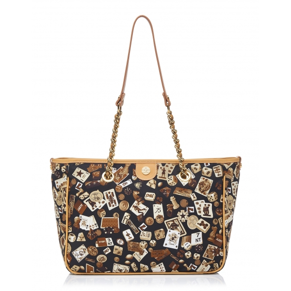 Divo Diva - Antibes - Brown - Leather Handbag - Made in Italy - Life is a Game Collection - Luxury High Quality