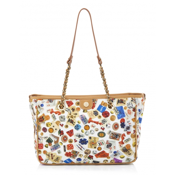 Divo Diva - Antibes - White - Leather Handbag - Made in Italy - Life is a Game Collection - Luxury High Quality