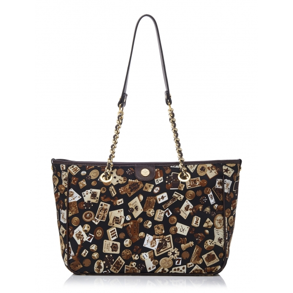 Divo Diva - Antibes - Marrone Scuro - Borsa in Pelle - Made in Italy - Life is a Game Collection - Alta Qualità Luxury