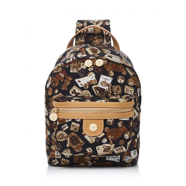 Divo Diva - Melbourne - Brown - Leather Backpack - Made in Italy - Life is a Game Collection - Luxury High Quality