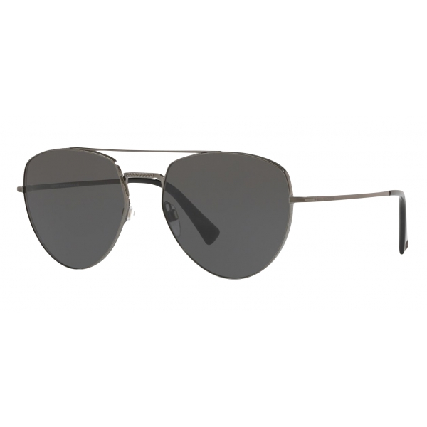 Valentino - Aviator Metal Sunglasses - Black - Valentino Eyewear