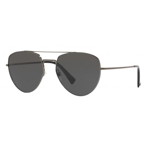 Valentino - Occhiale da Sole Pilot in Metallo - Nero - Valentino Eyewear