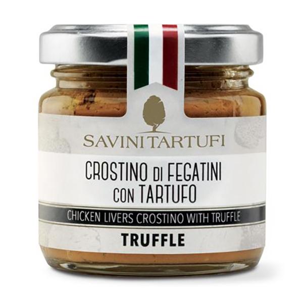 Savini Tartufi - Crostino di Fegatini con Tartufo - Linea Tricolore - Eccellenze al Tartufo - 90 g