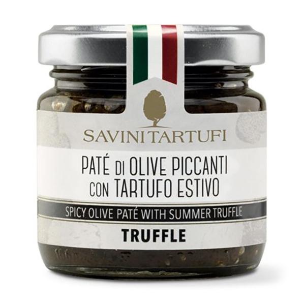 Savini Tartufi - Patè di Olive Piccanti al Tartufo Estivo - Linea Tricolore - Eccellenze al Tartufo - 90 g