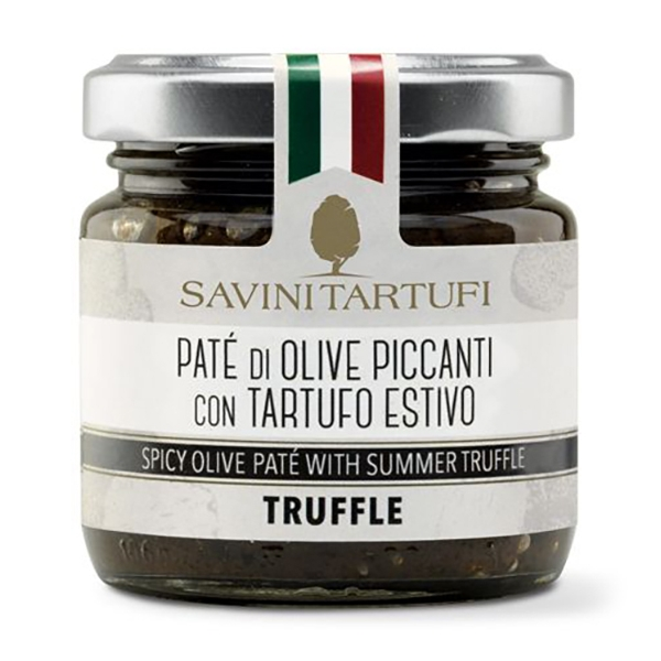 Savini Tartufi - Paté of Spicy Olives with Summer Truffle - Tricolor Line - Truffle Excellence - 90 g