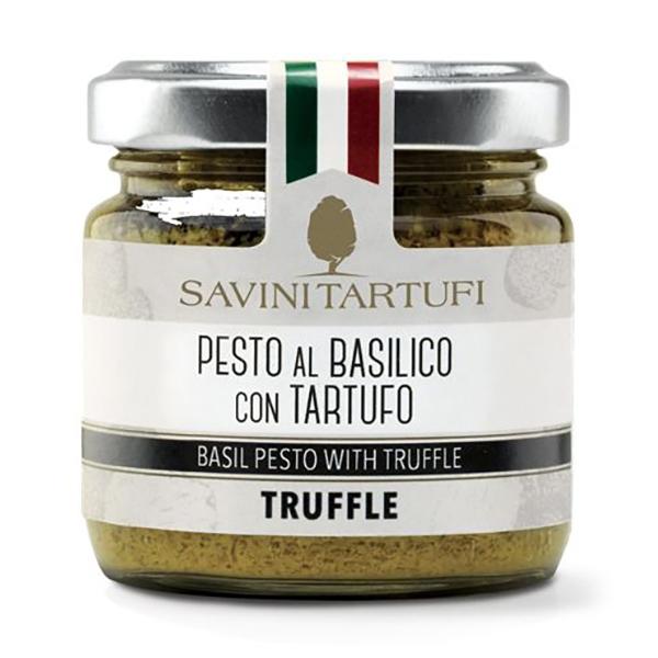 Savini Tartufi - Pesto al Basilico con Tartufo - Linea Tricolore - Eccellenze al Tartufo - 90 g