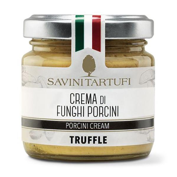 Savini Tartufi - Crema di Funghi Porcini - Linea Tricolore - Eccellenze al Tartufo - 90 g