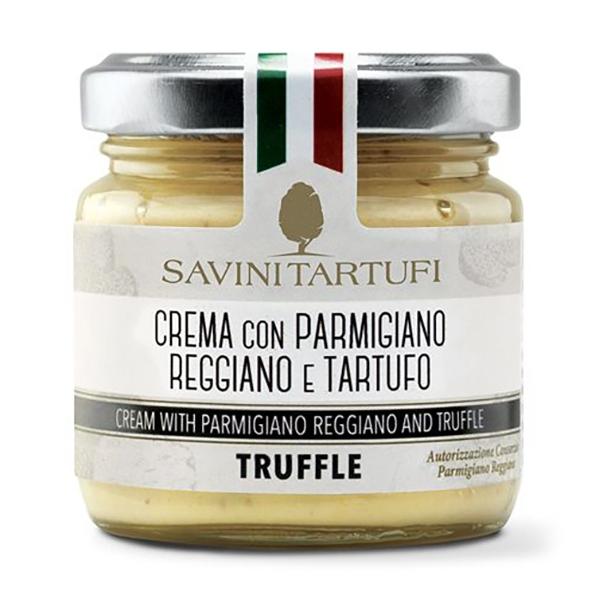 Savini Tartufi - Crema con Parmigiano Reggiano e Tartufo - Linea Tricolore - Eccellenze al Tartufo - 90 g