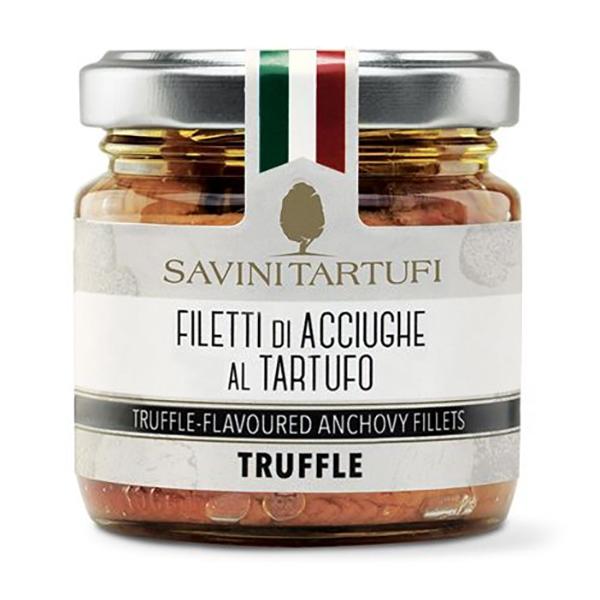 Savini Tartufi - Filetti di Acciughe al Tartufo - Linea Tricolore - Eccellenze al Tartufo - 100 g