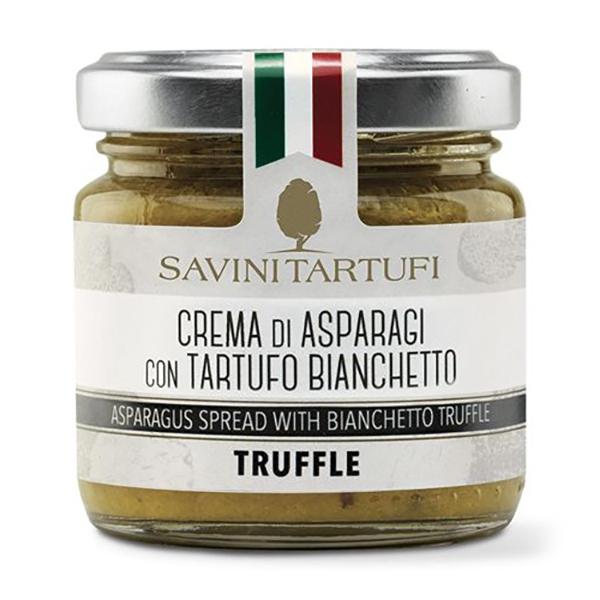 Savini Tartufi - Crema di Asparagi con Tartufo Bianchetto - Linea Tricolore - Eccellenze al Tartufo - 90 g