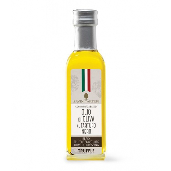Savini Tartufi - Condiment Based on Olive Oil with Fine Black Truffle - Tricolor Line - Truffle Excellence - 100 ml