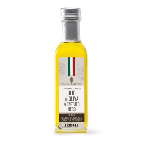 Savini Tartufi - Condimento a Base di Olio di Oliva al Tartufo Nero Pregiato - Linea Tricolore - Eccellenze al Tartufo - 100 ml