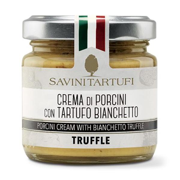 Savini Tartufi - Crema di Porcini con Tartufo Bianchetto - Linea Tricolore - Eccellenze al Tartufo - 90 g
