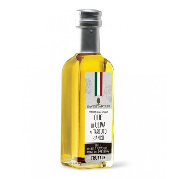 Savini Tartufi - Condimento a Base di Olio di Oliva al Tartufo Bianco - Linea Tricolore - Eccellenze al Tartufo - 100 ml