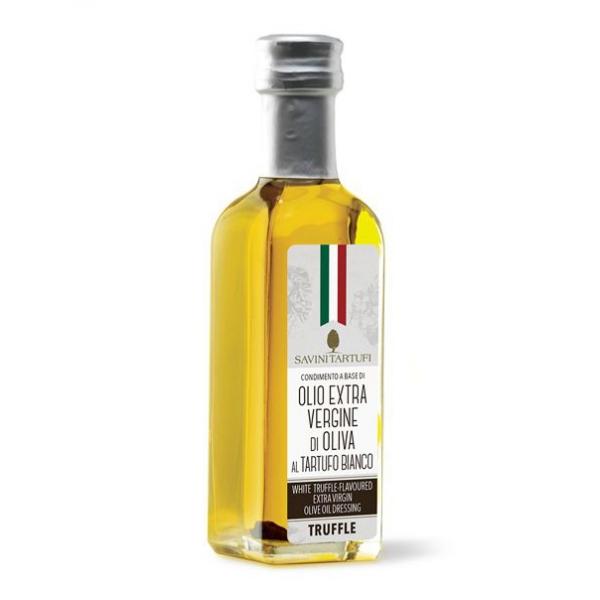 Savini Tartufi - Condimento di Olio Extra Vergine di Oliva al Tartufo Bianco - Linea Tricolore - Eccellenze al Tartufo - 100 ml