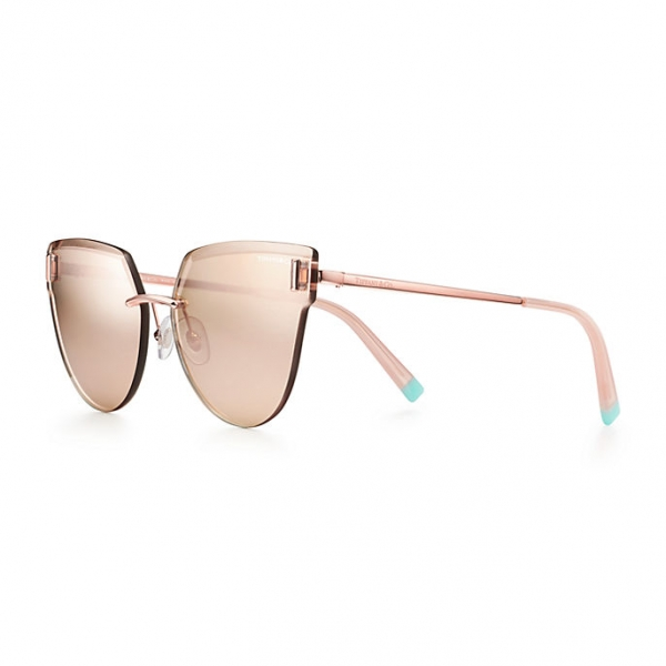 Tiffany & Co. - Occhiale da Sole Cat Eye - Oro Rosa - Collezione Tiffany T - Tiffany & Co. Eyewear