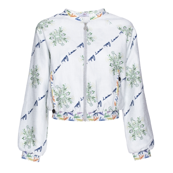 Leda Di Marti - Printed Bomber - Love a Dream - Haute Couture Made in Italy - Luxury High Quality Jacket