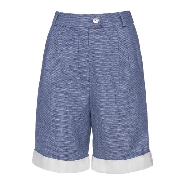 Leda Di Marti - Denim Shorts - Love a Dream - Haute Couture Made in Italy - Shorts di Alta Qualità Luxury